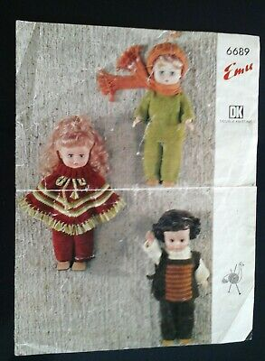 Vintage Knitting Patterns for Doll's clothes