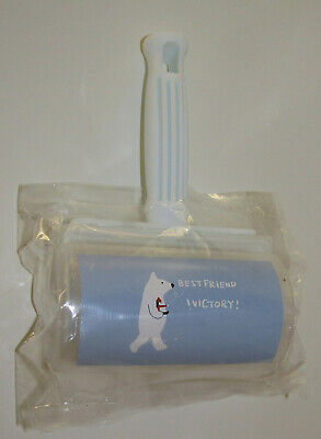 Lint Roller Polar Bear Best Friend Victory New Remove Pet Hair Dog Cat