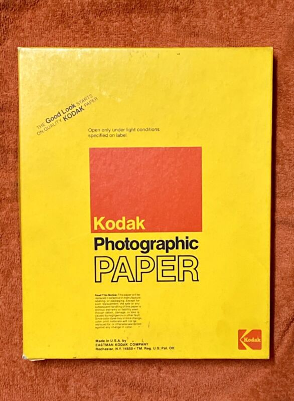 Vintage Unopened Kodak Panalure II RC Photographic Paper 8x10 Type F - 100 Count