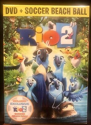 New Rio 2 DVD with Soccer Beach Ball -factory Sealed & Priced CHEAP 2