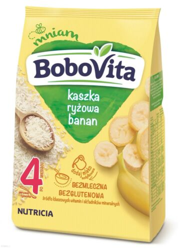 Nutricia Aptamil BoboVITA ORGANIC rice porridge BANANA from 4th month FREE SHIP