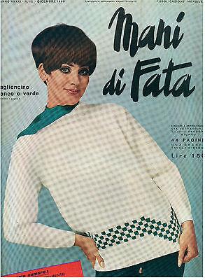 MANI DI FATA DICEMBRE 1966 ANNO XXXXI N 12 LAVORI FEMMINILI TAGLIO CUCITO RICAMO