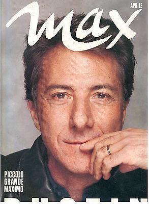 MAX APRILE 1989 ANNO V NUM. 4 DUSTIN HOFFMAN ITALIAN FASHION MAGAZINE MODA