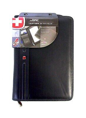 Wenger The Epic Leather Jr Zip-folio Black