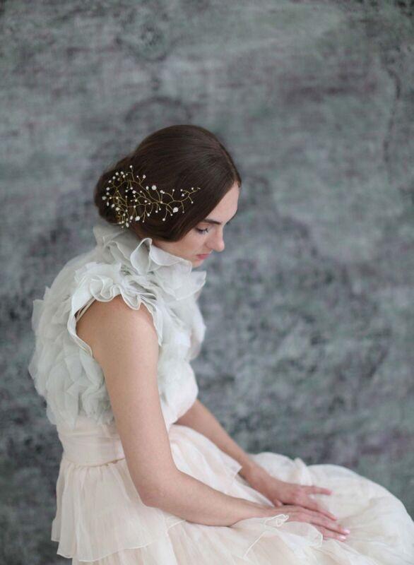 Twigs & Honey Floating Pearl & Bead Hair Wisp