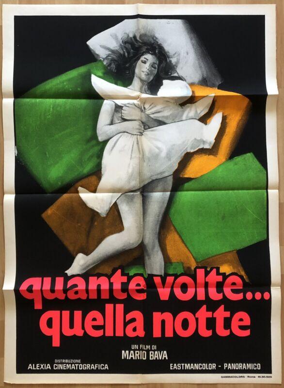 QUANTE VOLTE QUELLA NOTTE 1972 RARE ORIGINAL ITALIAN 2-SHEET POSTER NEAR MINT