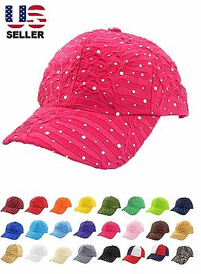 Rhinestone Baseball Cap Glitter Sequin Sparkly Bling Women Summer Hat Sun Lady](Sequin Baseball Hat)