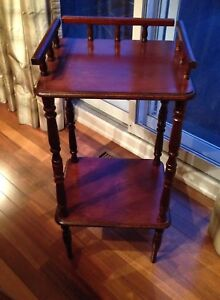 Wood accent table.