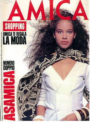 AMICA ANNO XXVI N. 6 1 FEBBRAIO 1988 ITALIAN FASHION MAGAZINE MODA
