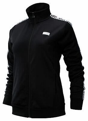 New Balance Women's NB Athletics Classic Track Jacket Black with White