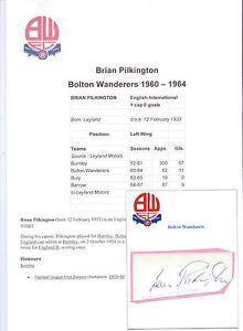 BRIAN-PILKINGTON-BOLTON-WANDERERS-1960-1964-ORIGINAL-HAND-SIGNED-CUTTING-CARD