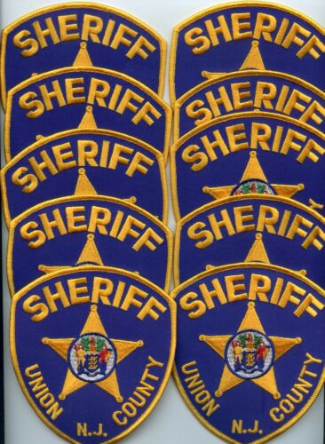 UNION COUNTY NEW JERSEY Trade Stock 10 Police Patches SHERIFF POLICE PATCH