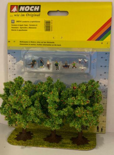 Noch 94014 Tt Farmers & Apple Trees Ausschmückungs-set Einmalserie # New Boxed #