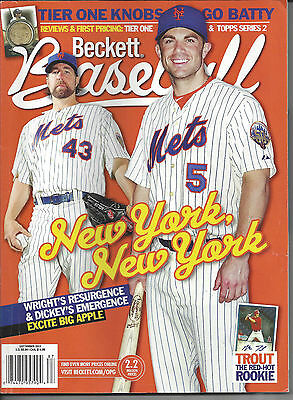 Mets Dickey & Wright on Cover Beckett Baseball September 2012 Issue