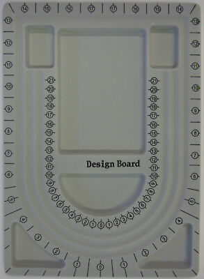 Flocked Bead Design Board 6 Compartments 32x 23cm For Beading Jewellery Making (Bead Design Board)