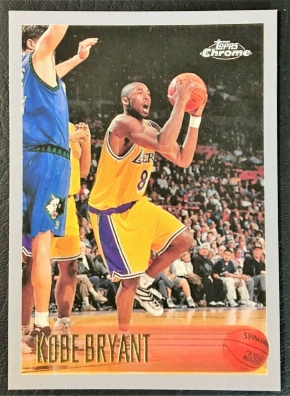 1996-97 Topps Chrome #138 Kobe Bryant Rookie - Reprint - Mint - LA Lakers