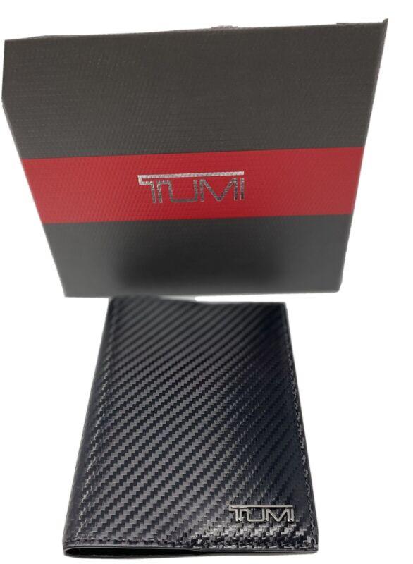 NEW TUMI BLACK LEATHER PASSPORT CASE