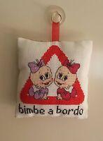 Cuscinetto ,bimbo A Bordo, Personalizzabile Realizzato A Punto Croce -  - ebay.it