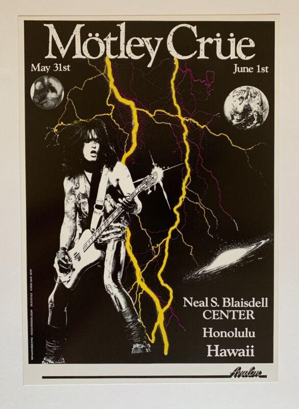 Motley Crue Original Concert Poster Hawaii 1990
