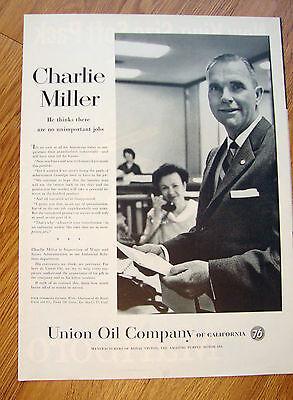 1958 Union Oil 76 Ad Charlie Miller