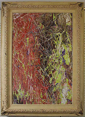 24 x 36 Original Abstract Expressionism by Carmen Rowe - Jackson Pollock Style