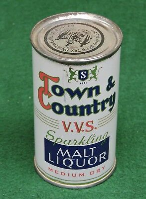 SUNSHINE BREWING CO. READING, PA. FLAT TOP BEER CAN,TOWN & COUNTRY MALT LIQUOR