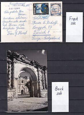GUATEMALA 1957, Illustrated Postcard to Switzerland, Zurich