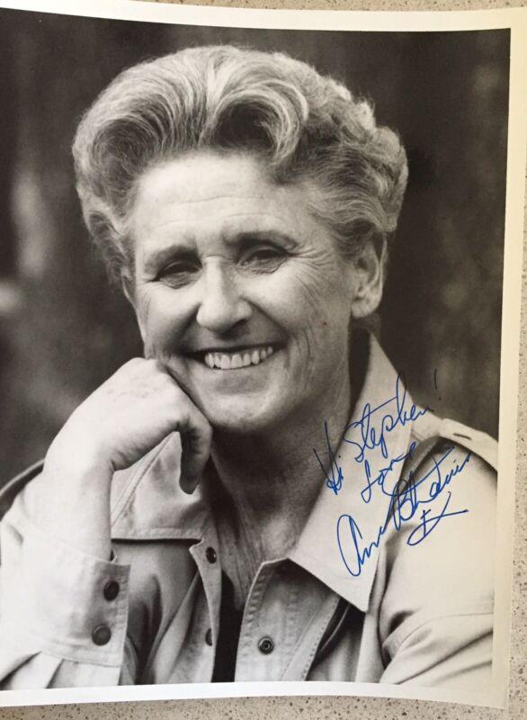"""Ann B. Davis Signed  / Inscribed Photo 8""""X10"""" B&W Alice Of The Brady Bunch"""