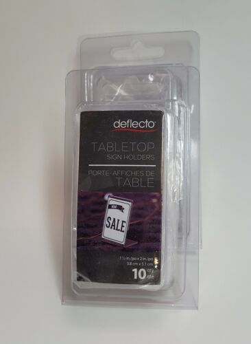 """Tabletop Sign Holder, NEW deflecto brand 2 1/16""""Wx1 1/2""""Dx3 1/8""""H"""
