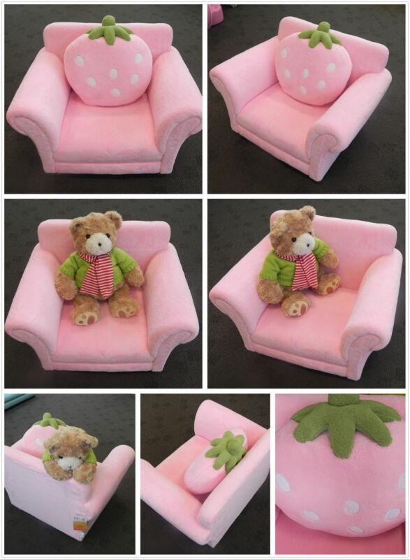 Pink Strawberry Single Seat Sofa Chair/Couch With Cushion