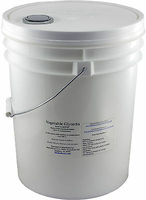 5 Gallon Pail Of Pure Vegetable Glycerin Food Grade Usp S...