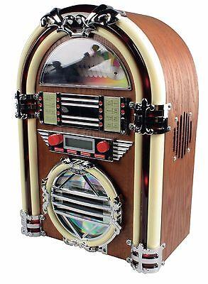 Retro Design CD-Player + Radio Mini Jukebox Style Nostalgie Vintage Bar Musikbox Design Musik Box