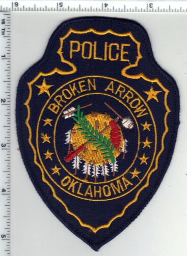 Broken Arrow Police (Oklahoma) Uniform Take-Off Shoulder Patch from the 1980