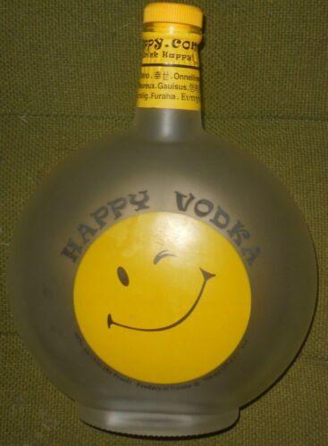 Happy Vodka Bottle, Happy Face, 750 ml, Empty