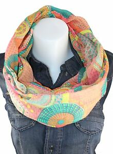 LOOP Rundschal CIRCLE XXL Optik Schal Tuch IT Flower SCARF Kreise NEU H/M-205
