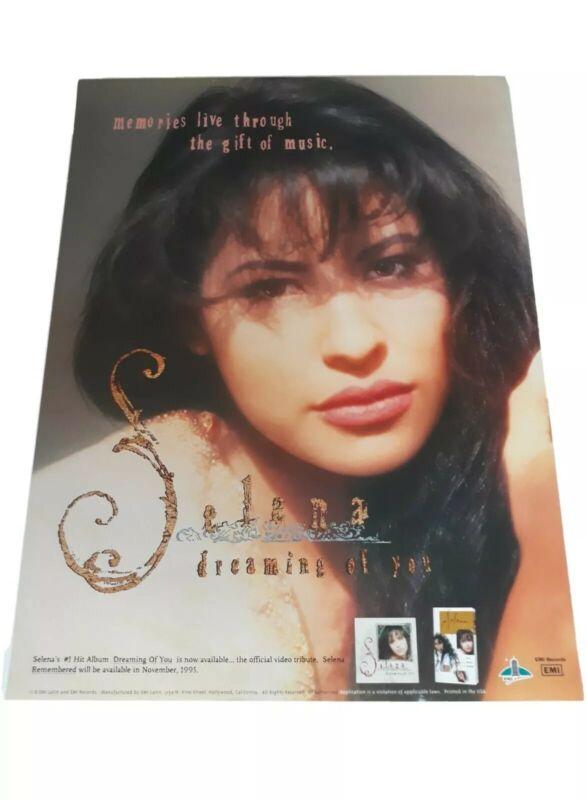 "SELENA QUINTANILLA ""DREAMING OF YOU"" EMI LATIN 1995 RARE PROMOTIONAL POSTER NOS"