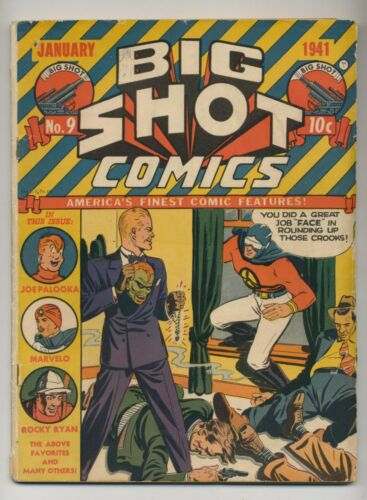 Big Shot Comics #9 1941 VG 4.0  Skyman  Gardner Fox Story, Ogden Whitney Art