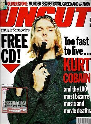 UNCUT MAGAZINE MAY 1998 - KURT COBAIN - OLIVER STONE - COEN BROTHERS - (Oliver Coen)