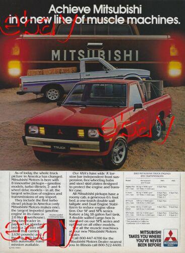 1983 Mitsubishi Pickup Truck Magazine Ad Mighty Max S SP SPX 2.3 Turbo Diesel 83