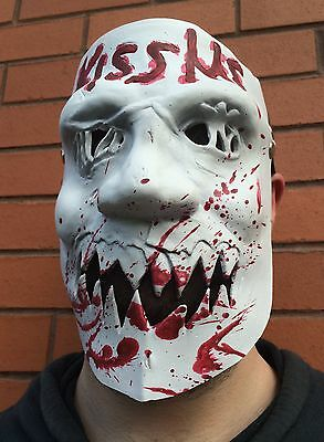The Purge 3 Mask Kiss Me Halloween Fancy Dress 1, 2 Latex Costume Election - The Purge White Dress