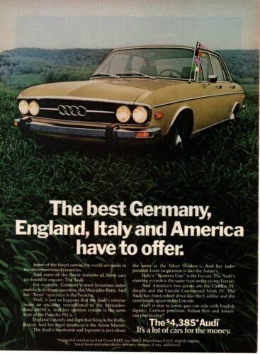 1974 ORIGINAL VINTAGE AUDI CAR MAGAZINE AD