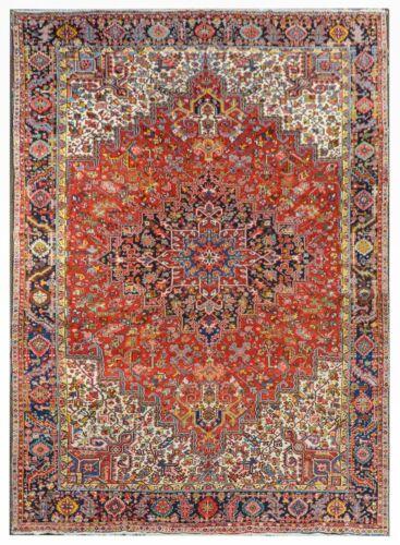 Tremendous Tribal - 1960s Antique Oriental Rug - Nomadic Carpet - 10.9 X 14.6 Ft