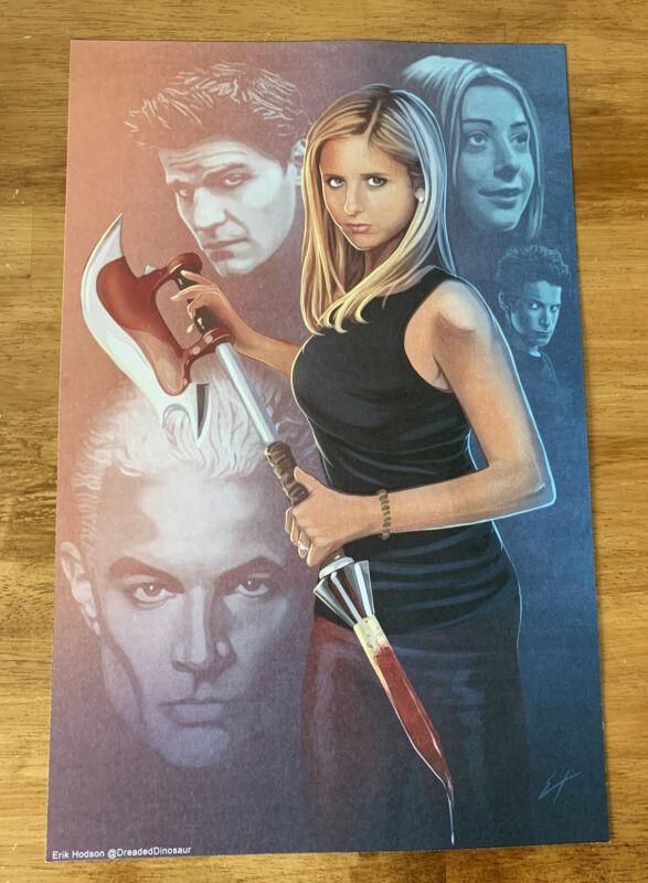 """Dreaded Dinosaur (Erik Hodson) Buffy The Vampire Slayer 17""""x11"""" Picture/Poster"""