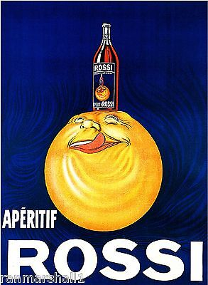 Aperitif Rossi Wine Liqueur Beer French Vintage Advertisement Art Poster Print