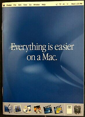 RARE VINTAGE 2001 APPLE RETAIL BOOKLET -  EVERYTHING IS EASIER ON A MAC - NEW