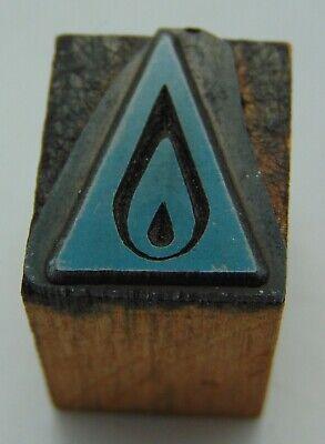 Vintage Printing Letterpress Printers Block Flame Triangle Logo