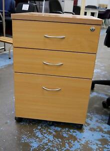 New Beech Mobile Under Desk Filing Drawers On Wheels Locking Melbourne CBD Melbourne City Preview