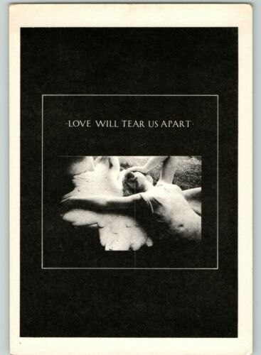 Ca 1980s Joy Division Love Will Tear Us Apart Vintage Music Album Cover Postcard