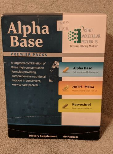 Unopened Ortho Molecular Alpha Base Premier Pack 60 packets exp 6/16!