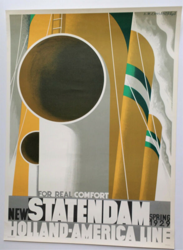 """Holland America Line: """"New Statendam"""" Poster by A.M. Cassandre"""